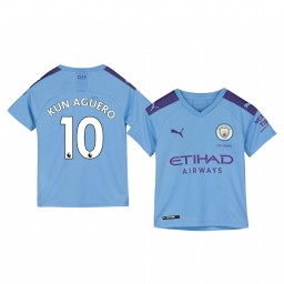 Youth 2019/20 Sergio Agüero Manchester City Home Authentic Jersey