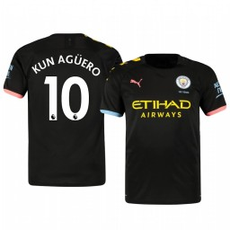 2019/20 Sergio Agüero Manchester City Away Short Sleeve Authentic Jersey