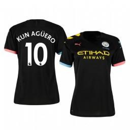 Women's 2019/20 Sergio Agüero Manchester City Away Short Sleeve Authentic Jersey