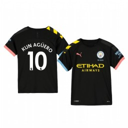 Youth 2019/20 Sergio Agüero Manchester City Away Short Sleeve Authentic Jersey