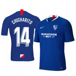 2019/20 Chicharito Sevilla Third Blue Short Sleeve Authentic Jersey