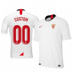 Youth 2019/20 Custom Sevilla Home White Short Sleeve Authentic Jersey