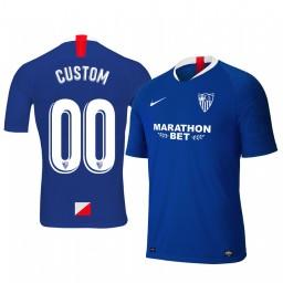 2019/20 Custom Sevilla Third Blue Short Sleeve Authentic Jersey