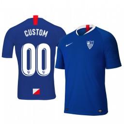 Youth 2019/20 Custom Sevilla Third Blue Short Sleeve Authentic Jersey