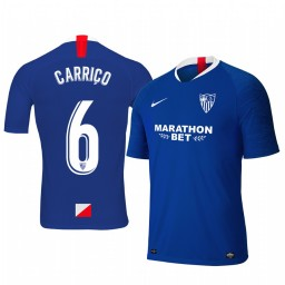 2019/20 Daniel Carrico Sevilla Third Blue Short Sleeve Authentic Jersey