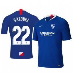 2019/20 Franco Vazquez Sevilla Third Blue Short Sleeve Authentic Jersey
