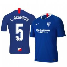2019/20 Lucas Ocampos Sevilla Third Blue Short Sleeve Authentic Jersey