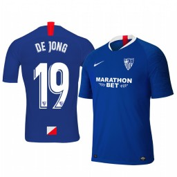 2019/20 Luuk de Jong Sevilla Third Blue Short Sleeve Authentic Jersey