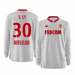 2019/20 AS Monaco Seydou Sy White Goalkeeper Away Authentic Jersey