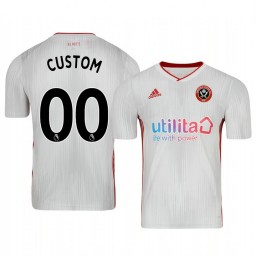Youth 2019/20 Custom Sheffield United Away White Short Sleeve Authentic Jersey