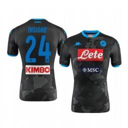 2019/20 Lorenzo Insigne SSC Napoli Fourth Black Camo District Authentic Jersey