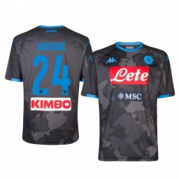 Youth 2019/20 Lorenzo Insigne SSC Napoli Fourth Black Camo District Authentic Jersey