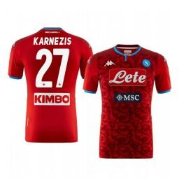 2019/20 SSC Napoli Orestis Karnezis Goalkeeper Authentic Short Sleeve Authentic Jersey
