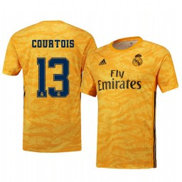 2019/20 Real Madrid Thibaut Courtois Yellow Goalkeeper Home Authentic Jersey