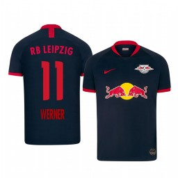 2019/20 RB Leipzig Timo Werner Black Away Authentic Jersey