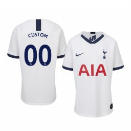 Youth 2019/20 Custom Tottenham Hotspur Home White Short Sleeve Authentic Jersey