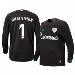 Youth 2019/20 Unai Simon Athletic Bilbao Black Goalkeeper Authentic Jersey