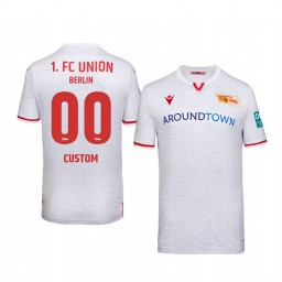 Youth 2019/20 Union Berlin Custom White Away Short Sleeve Authentic Jersey