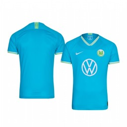 Youth 2019/20 VfL Wolfsburg Blue Away Short Sleeve Authentic Jersey