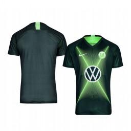 Youth 2019/20 VfL Wolfsburg Dark Green Home Short Sleeve Authentic Jersey