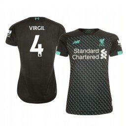 Women's 2019/20 Liverpool Virgil van Dijk Authentic Jersey Alternate Third