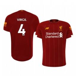 2019/20 Virgil van Dijk Liverpool Home Authentic Jersey