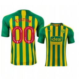 Youth 2019/20 West Bromwich Albion Custom Yellow Green Away Short Sleeve Authentic Jersey