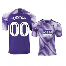 Youth 2019/20 West Bromwich Albion Custom Purple Third Short Sleeve Authentic Jersey