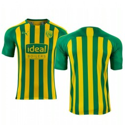 2019/20 West Bromwich Albion Yellow Green Away Short Sleeve Authentic Jersey