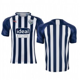 2019/20 West Bromwich Albion White Blue Home Short Sleeve Authentic Jersey
