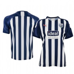 Women's 2019/20 West Bromwich Albion White Blue Home Short Sleeve Authentic Jersey