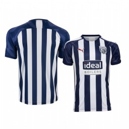 Youth 2019/20 West Bromwich Albion White Blue Home Short Sleeve Authentic Jersey