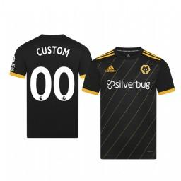 Youth 2019/20 Wolverhampton Wanderers Custom Black Away Short Sleeve Replica Jersey