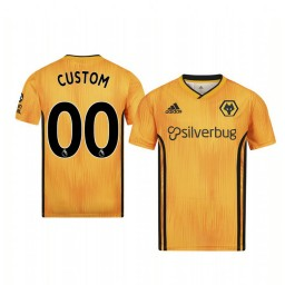 Youth 2019/20 Wolverhampton Wanderers Custom Orange Home Short Sleeve Replica Jersey