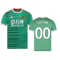 Youth 2019/20 Wolverhampton Wanderers Custom Green Third Short Sleeve Replica Jersey