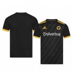 Youth 2019/20 Wolverhampton Wanderers Black Away Short Sleeve Authentic Jersey
