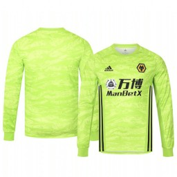 2019/20 Wolverhampton Wanderers Light Green Goalkeeper Home Authentic Jersey