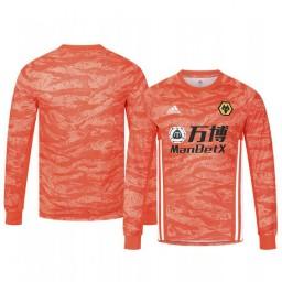 2019/20 Wolverhampton Wanderers Orange Goalkeeper Away Authentic Jersey