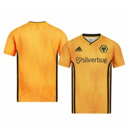 Youth 2019/20 Wolverhampton Wanderers Orange Home Short Sleeve Authentic Jersey
