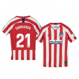 Youth 2019/20 Yannick Carrasco Atletico de Madrid Home Red White Official Short Sleeve Authentic Jersey