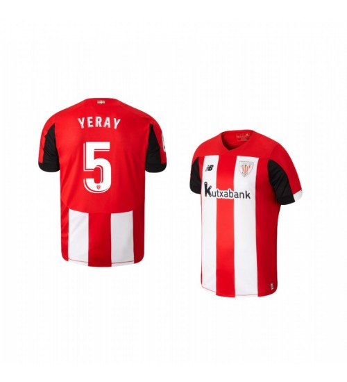 Youth 2019/20 Yeray Alvarez Athletic Bilbao Home Authentic Jersey