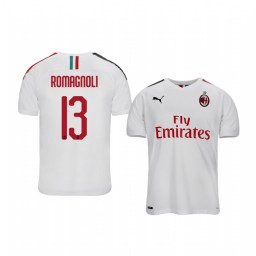 2019/20 Alessio Romagnoli AC Milan Away Short Sleeve Authentic Jersey